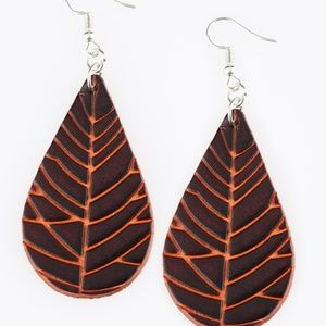 💍 5 for $25 sale! 💍 Brown Leather Earrings